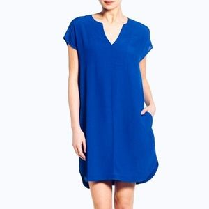 Madewell Du Jour Tunic Dress in Royal Blue